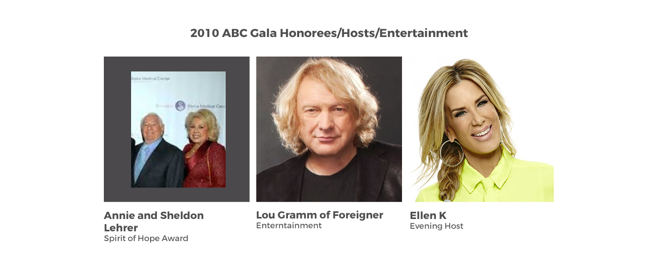 2010 ABC Gala Honorees/Hosts/Entertainment