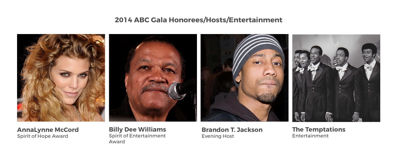 2014 ABC Gala Honorees/Hosts/Entertainment