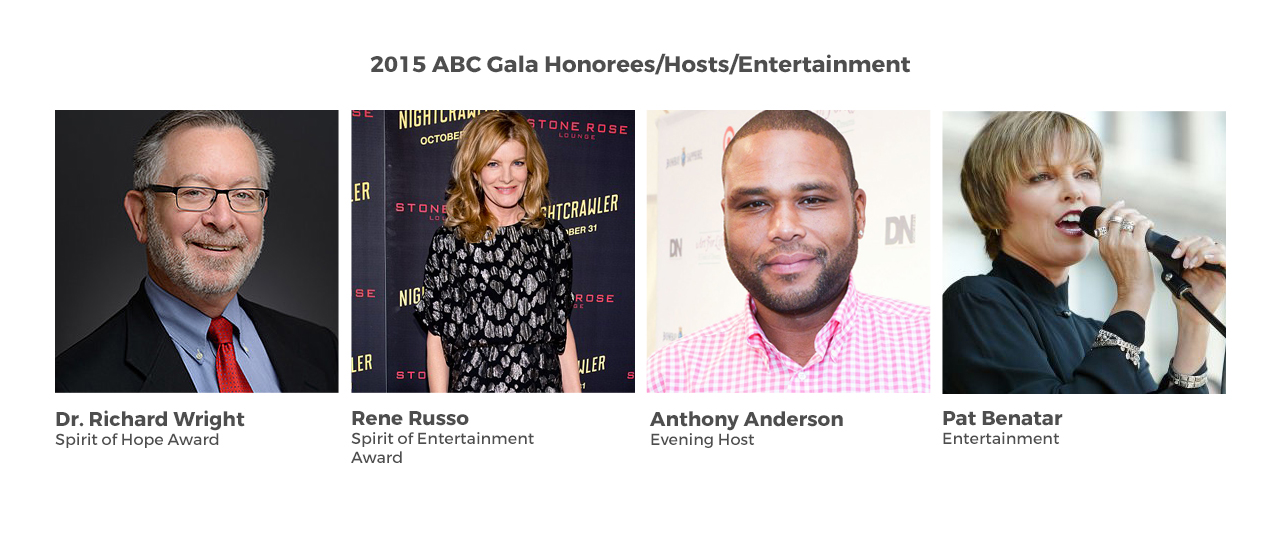 2015 ABC Gala Honorees/Hosts/Entertainment